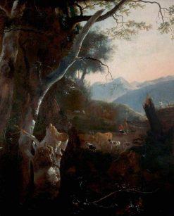 Mountainous Landscape with Peasants