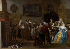 Merry Company (Interior with Cavaliers and Ladies) | Anthonie Palamedesz | Oil Painting