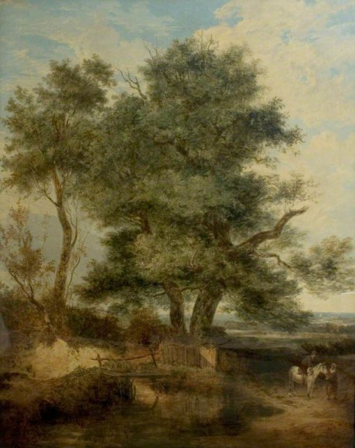 Trees by a Brook   John Crome   Oil Painting