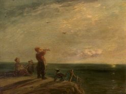 Seascape with Figures and a Dog | William Collins | Oil Painting