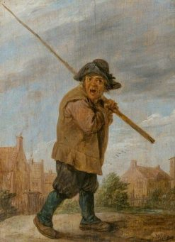 A Peasant carrying a Pole | David Teniers II | Oil Painting