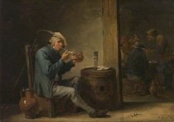 Peasant Smoking in an Interior | David Teniers II | Oil Painting