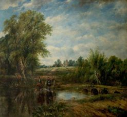 The Ford | Frederick Waters Watts | Oil Painting