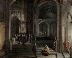 Interior of a Church | Hendrick van Steenwijck the Younger | Oil Painting