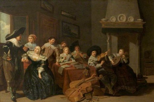 The Music Party | Pieter Codde | Oil Painting