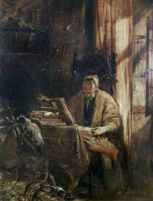 Don Quixote in His Study   Richard Parkes Bonington   Oil Painting