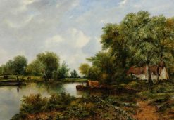 A Quiet Backwater in Suffolk | Frederick Waters Watts | Oil Painting