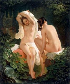Two Female Bathers | August Riedel | Oil Painting