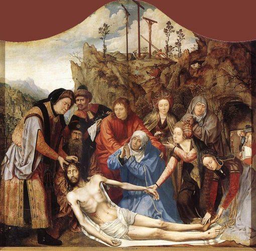 Carpenter's Guild Altarpiece (central panel:Lamentation)   Quentin Massys   Oil Painting