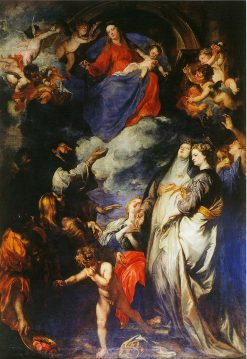 Madonna of the Rosary   Anthony van Dyck   Oil Painting