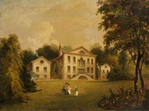 View of a Country House | Alfred Vickers | Oil Painting