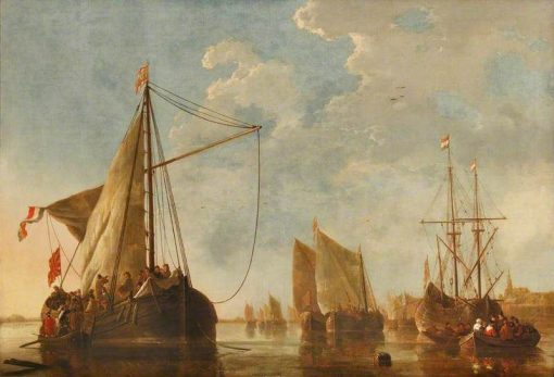 Shipping on the Maas at Dordrecht | Aelbert Cuyp | Oil Painting
