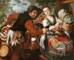 Market Couple | Joachim Beuckelaer | Oil Painting