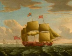 HMY 'Royal Caroline' in a Stiff Breeze | John Cleveley the Elder | Oil Painting