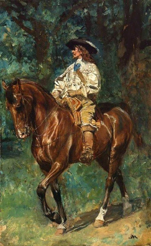 Mounted Cavalier   Jean Louis Ernest Meissonier   Oil Painting