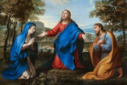 Christ and Two Figures in a Landscape | Carlo Dolci | Oil Painting