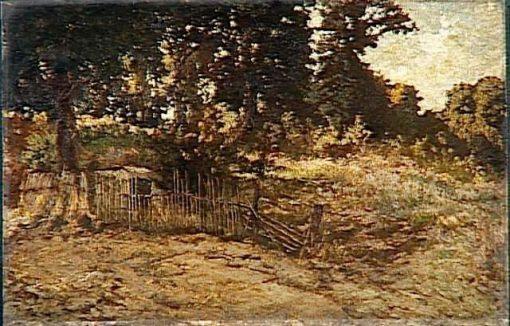 Paysage a la Palissade | Adolphe Joseph Thomas Monticelli | Oil Painting