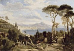 Bay of Naples | Camille Joseph Etienne Roqueplan | Oil Painting
