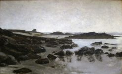 Seashore at Audresselles | Charles Auguste Emile Durand | Oil Painting