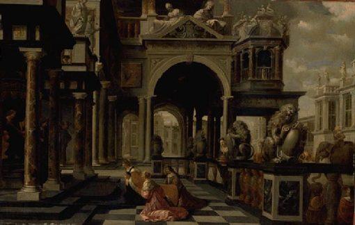 Solomon and the Queen of Sheba | Dirck van Delen | Oil Painting