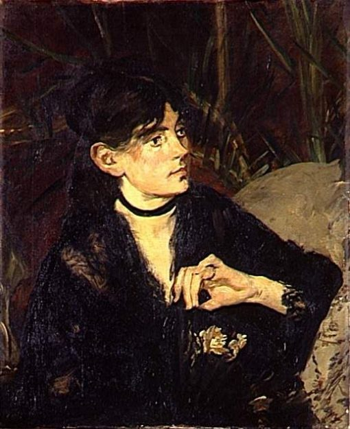 Portrait of Berthe Morisot with a Fan   Edouard Manet   Oil Painting