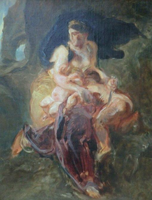 Médée (study) | Eugene Delacroix | Oil Painting