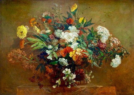 Bouquet champêtre | Eugene Delacroix | Oil Painting
