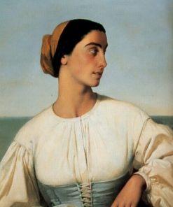 Femme de Saint-Jean-de-Luz | Eugene Emmanuel Amaury Duval | Oil Painting