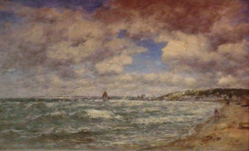 Le rivage de Deauville | Eugene Louis Boudin | Oil Painting