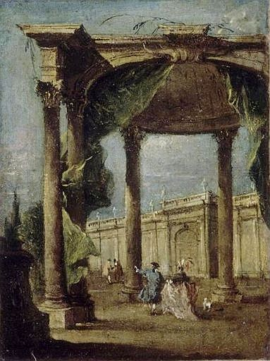 Capriccio: Walkway with Arch | Francesco Guardi | Oil Painting