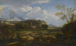 View of the Roman Campagna   Gaspard Dughet   Oil Painting