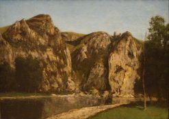 La Meuse a Freyr | Gustave Courbet | Oil Painting