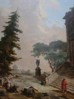 Terrasse d'un palais a Rome | Hubert Robert | Oil Painting
