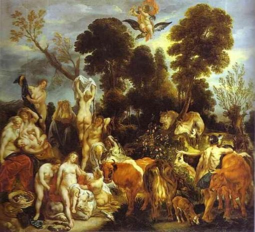 The Rape of Europa   Jacob Jordaens   Oil Painting