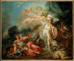 The Combat of Mars and Minerva (study)   Jacques Louis David   Oil Painting