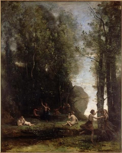 Fête antique | Jean Baptiste Camille Corot | Oil Painting
