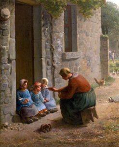 La Becquée | Jean Francois Millet | Oil Painting