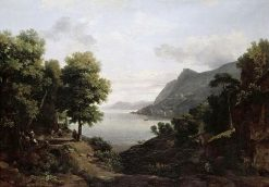 Italianate Landscape with Figures | Jean Victor Bertin | Oil Painting