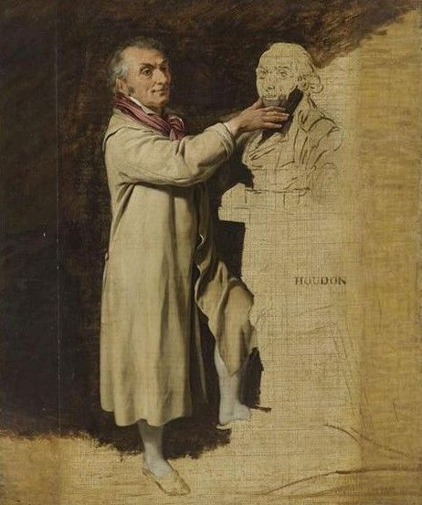 Portrait of Jean-Antoine Houdon | Louis LEopold Boilly | Oil Painting