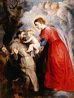 Saint Francis Receiving the Infant Jesus from the Hands of the Virgin | Peter Paul Rubens | Oil Painting
