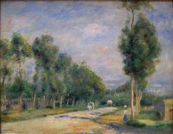 Route de Versailles a Louveciennes | Pierre Auguste Renoir | Oil Painting