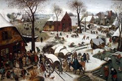 The Population of Bethlehem(also known as Le Denombrement de Bethleem) | Pieter Brueghel the Younger | Oil Painting