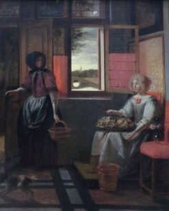 Young Woman and Her Servant | Pieter de Hooch | Oil Painting