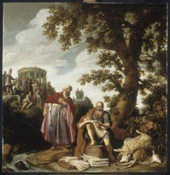 Hippocrite et Democrite | Pieter Lastman | Oil Painting