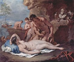 Sleeping Nymph with Two Satyrs | Sebastiano Ricci | Oil Painting