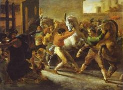 Horse Races in Rome | ThEodore GEricault | Oil Painting