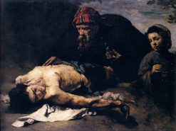 The Good Samaritan | ThEodule Augustin Ribot | Oil Painting