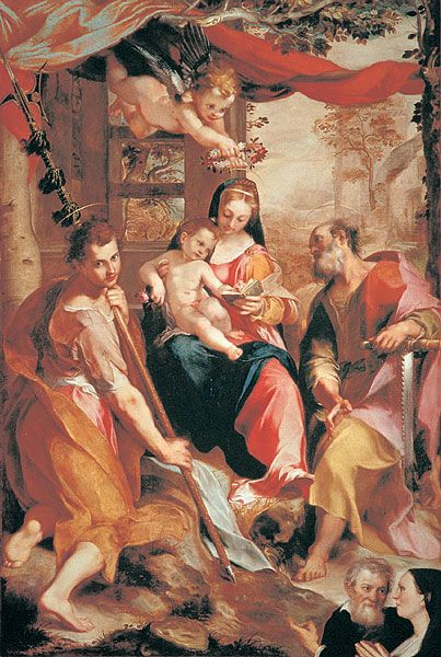 Madonna and Child with St Simon and St Jude | Federico Barocci | Oil Painting