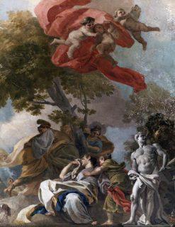 The Legend of Theseus   Francesco de Mura   Oil Painting