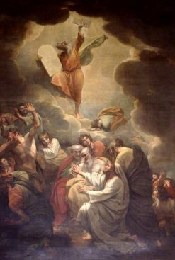 Moses Receiving the Law on Mount Sinai | Benjamin West | Oil Painting
